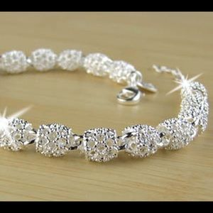 Fashion hollow out beads link  silver bracelet